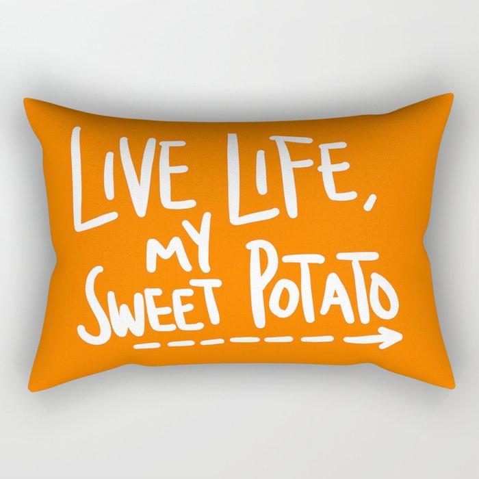 Live Life My Sweet Potato Rectangular Pillow