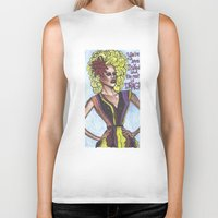 "rupaul Biker Tanks featuring RuPaul; ""You're Born Naked, And The Rest Is Drag!"" by DetRiotGirl"