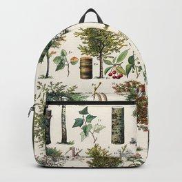 Adolphe Millot - Arbres B - French vintage botanical poster Backpack