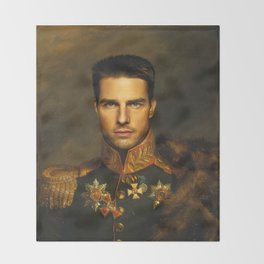 Tom Cruise - replaceface Throw Blanket