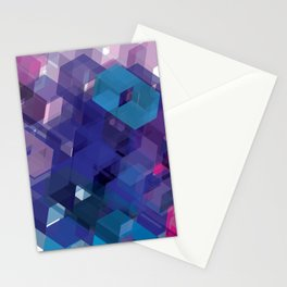 3D-blocks Stationery Cards