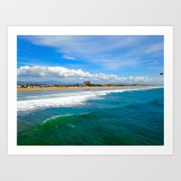 Huntington Beach Surfers Art Print