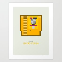 Legend of Zelda Cartridge Art Print