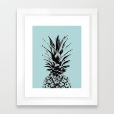 Pineapple in blue Framed Art Print