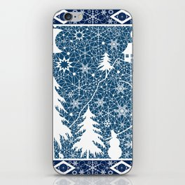 New year's design. Lace fabric . iPhone Skin