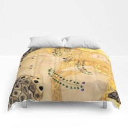 Water Serpents - Gustav Klimt Comforters