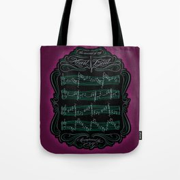 The Sound of My Heart Beat Tote Bag