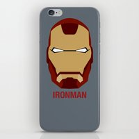 ironman iPhone & iPod Skins featuring IRONMAN by Alejandro de Antonio Fernández