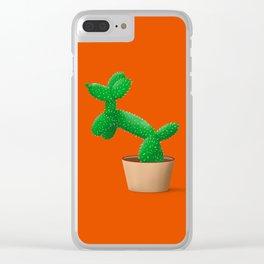 Cactus dog Clear iPhone Case