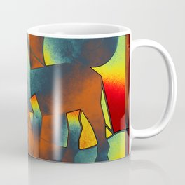 Abstract ART - Simply A Horse - blue red yellow Coffee Mug