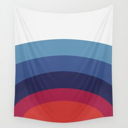 Retro Sunset Wave Vibes Wall Tapestry
