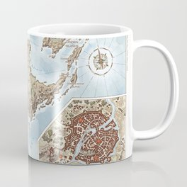 Belthennia - a map of its Independent Territories Coffee Mug