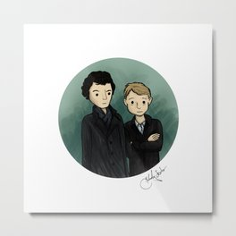 Sherlock & Watson Metal Print