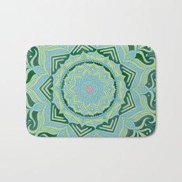 Green Swirl Mandala Bath Mat