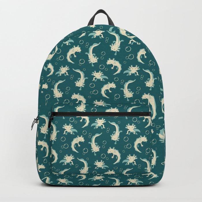 Relaxolotl - Teal Backpack