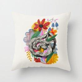 Fancy Snake Throw Pillow