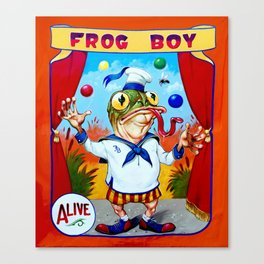 Frog Boy Canvas Print