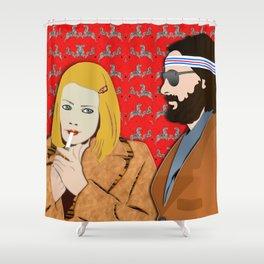 MARGOT AND RICHIE Shower Curtain