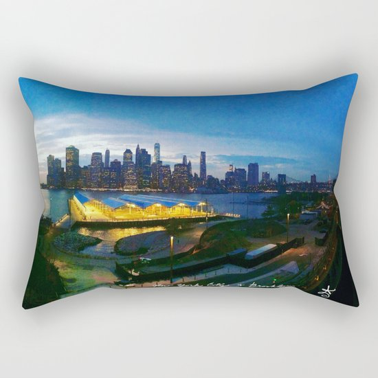 New York City as viewed from the Beautiful Brooklyn Heights Rectangular Pillow