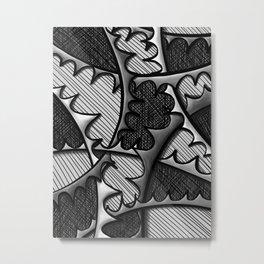 Monochromatic Intertwining Spikes Metal Print