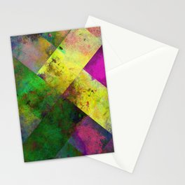 Dark Diamonds - Textured, patterned painting Stationery Cards