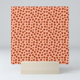 Irregular Small Polka Dots terracota Mini Art Print
