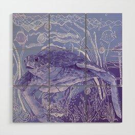 Periwinkle Turtle Wood Wall Art