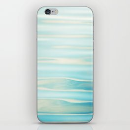 Water Ripples Photography, Aqua Blue Ocean Abstract Art, Turquoise Sea, Seascape iPhone Skin