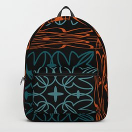 Teal Motif Backpack