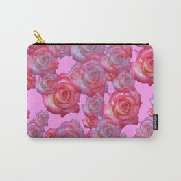 COLLAGE  ARRANGEMENT OF PINK ROSES GARDEN ART Carry-All Pouch