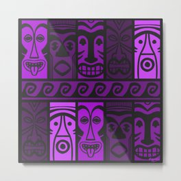 Purple Tide Tikis! Metal Print
