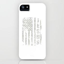 Jesus USA Flag American Religion Christian Gift iPhone Case