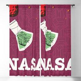 Vintage NASA Space poster Blackout Curtain