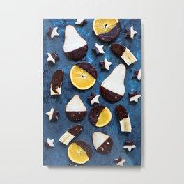 fruits dipped in chocolate Metal Print