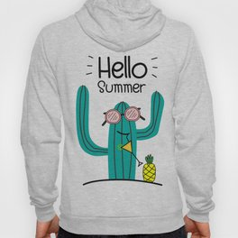 Fun Cactus And Pineapple Hoody