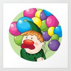 Angry Clown Art Print