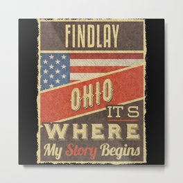 Findlay Ohio Metal Print
