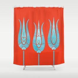 Turkish Tulips ethic design Shower Curtain
