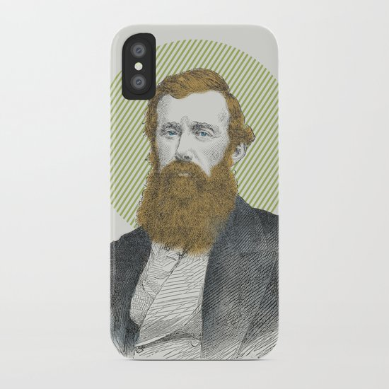 Blue Eyes, Red Beard, Gray Suit iPhone Case