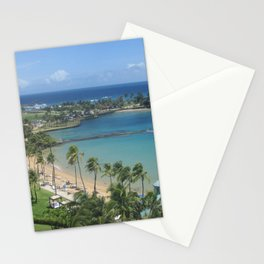 Beach at Caribe Hilton, San Juan, Puerto Rico, before Maria Stationery Cards