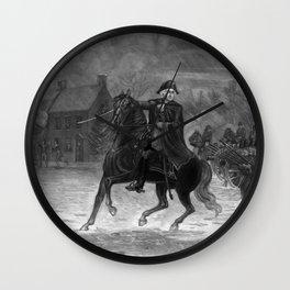 George Washington At The Battle Of Trenton Wall Clock