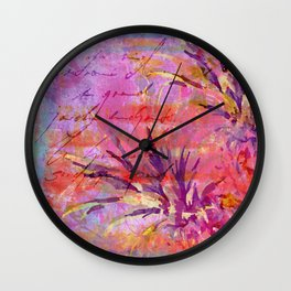 Pineappel tropical fruit colorful illustration Wall Clock