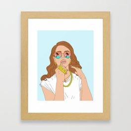 Chill Please Framed Art Print