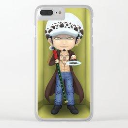 One Piece Anime Fanart Trafalgar Law Chibi Clear iPhone Case