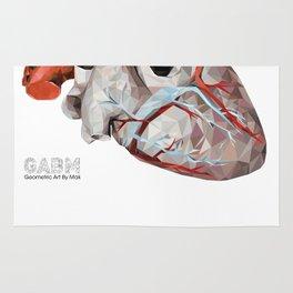 Geometric Heart Rug