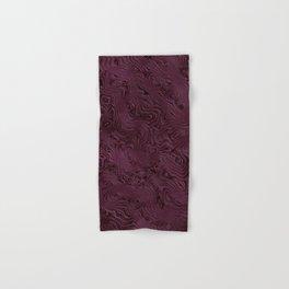 Royal Maroon Silk Moire Pattern Hand & Bath Towel