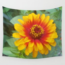 Zinnia on fire Wall Tapestry