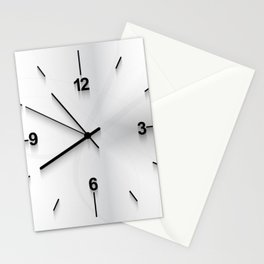 Wall clock background Stationery Cards