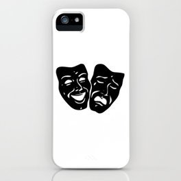 Theater Masks of Comedy and Tragedy iPhone Case