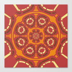 Dark red abstract Canvas Print